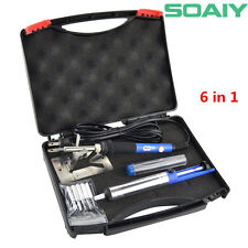 6-in-1 Electric Soldering Iron Kit Solder Tips Solder Sucker Solder Wire Y stand