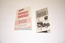 2 VINTAGE 1950'S REVELL MODELS HIGHWAY PIONEERS INSTRUCTIONS GOWLAND & GOWLAND
