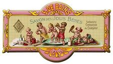 French Advertising Babies Baby Bathroom Soap Sign