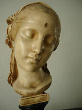 EXCEPTIONAL GOLDSCHIEIDER ART NOUVEAU MARKED RARE ORIGINAL MAIDEN BUST