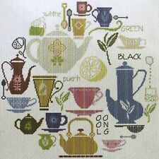 Alessandra Adelaide Needleworks TEA WORKS Spot Sampler Cross Stitch Chart Only