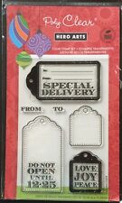 "Hero Arts Clear Stamps "" Special Delivery"" Tags *New*"