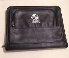 Leed's BLACK LEATHER 13 1/2 INCH LAPTOP CASE