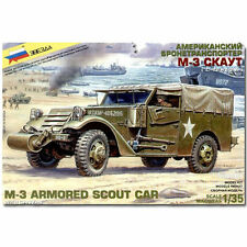 ZVEZDA 3581 M3 Scout Armored Car with Canvas Model Kit 1:35