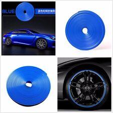 "JDM BLUE WHEEL RIM PROTECTOR CAR TIRE GUARD LINE RUBBER MOULDING 8M 22"" SUV"
