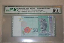 (PL) RM 50 ZB 0002475 PMG 66 EPQ 3 ZERO LOW NICE FANCY NUMBER GEM UNC