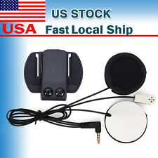 Mic/Speaker Headset+Clips for Motorcycle Bluetooth Helmet Interphone Intercom V6