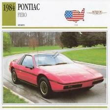 1984 PONTIAC FIERO Sports Classic Car Photo/Info Maxi Card