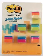 Post-It Notes Cube 2400 Note 6-pack 3M 1.8 x 1.8 A World of Color Bright Square