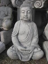 Buddha 50 cm groß Steinfigur Feng Shui Statue Japanischer Garten Figur Statue