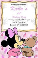 Minnie Mouse Invite Template/Customization To Meet Your Needs/BDay/Baby Shower