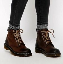 Dr. Martens 939 Brown Leather 6 Eye Padded Collar Hiker Boots Womens 8