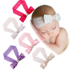 New Baby Girl Kids Lace Headband Hair Band Bow Accessories Photo Props Headwear