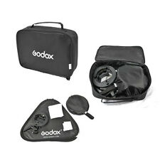 Godox S-Type Bowens Speedlite Bracket + 60x60cm Foldable Softbox + Bag for Flash