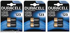 6x Duracell Ultra M3 Photo 123 Lithium Battery 3 Volt - Dl123A CR123 A El123A
