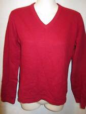 100% Cashmere Made in Inner Mongolia Red V-neck Sweater S