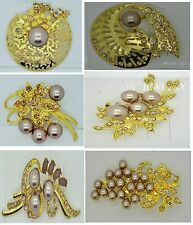 Fashion vintage brooch pin rhinestone wedding bridal bouquet jewelry #Q15