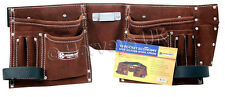 2 X DIY Trade Carpenter Builder Site Quality Adjustable Leather Tool Belt Pouch