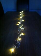 Silver 20 LED Heart Line/Garland/Runner Lights/wedding/Christmas Table