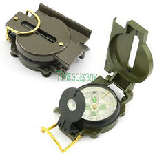 American Military Compass Magnifier Survival Lens Lensatic for Emergency Camping