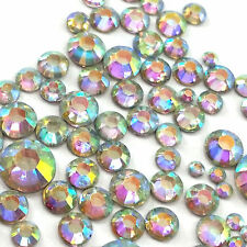 400 pcs Mix Size 2mm - 6mm Rainbow AB Color Resin Rhinestones Flatback Nails DIY
