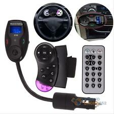 Bluetooth Car Kit FM Transmitter Handsfree MP3 Player Steering Wheel USB/SD/MMC