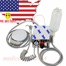 Portable Mini Dental Turbine Unit for handpiece Compressor 4 Holes +Water Bottle