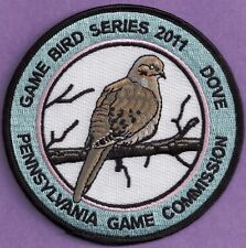 Pa Pennsylvania Game Commission NEW 2011 FINAL ISSUE Dove Game Bird Series Patch