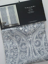 TAHARI Medallion (2) WINDOW PANELS Curtains Drapes GRAY SILVER Hidden Tab 52x96