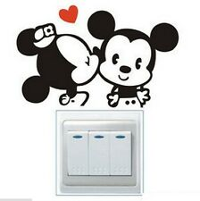 FD841 Black Cartoon Mouse Light Switch Funny Wall Decal Vinyl Stickers DIY ~1pc✿