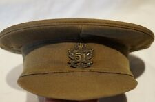 WW1 Canadian CEF 51st Battalion Officers Peak Cap Hat