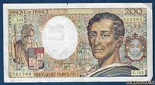 200 Francs Montesquieu Type 1981 - 1992 C.103 Qualité TB