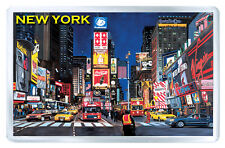TIMES SQUARE NEW YORK MOD2 FRIDGE MAGNET SOUVENIR IMAN NEVERA