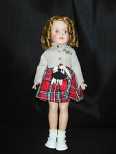 "Vintage Wee Willie Winkie 15"" Shirley Temple Doll by Ideal Doll Company"