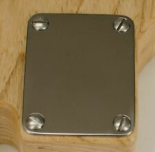 Titanium Neck Plate by RockRabbit Guitars, for Fender style guitars, Strat, Tele