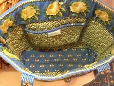"VERA BRADLEY "" BEES "" Shoulder TOTE BAG & WALLET Retired  2pc yellow rose LOT !!"
