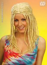 Señoras Rubia Rasta Dreadlock Rastas Peluca Surf Hippy Hippy Fancy Dress