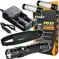 Fenix PD35 TAC 2015 1000 Lumen LED tactical Flashlight w/2XFenix Batt /Charger