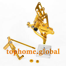 Golden CNC Rearsets Foot pegs Rear set For Yamaha YZF R1 2009-2013 12 11