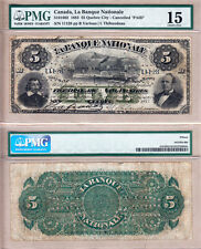 Rare 1883 $5 La Banque Nationale cancelled issued Steam Ship note. PMG CH F15