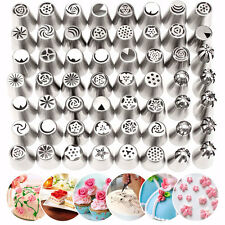 56Pcs Stainless Steel Russian Tulip Flower Icing Piping Nozzles Pastry Cake Deco