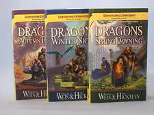 Dragonlance Chronicles by Margaret Weis & Tracy Hickman (Vol. 1-3 in Series) NEW