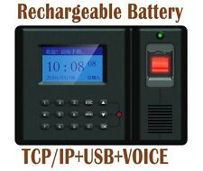 TCP/IP FINGERPRINT TIME CLOCK EMPLOYEE PAYROLL RECORDER PUNCH With Battery