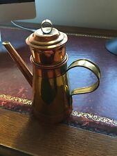 Antique coffee pot in brass and copper- single cup