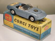 "Corgi No: 318 ""Lotus Elan S2 Convertible"" - Light Blue (Boxed/Original 1960's)"