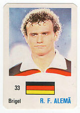 Football World Cup 1986 Portugese Pocket Calendar Hans-Peter Briegel W Germany