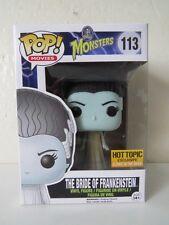 Funko Pop Hot Topic Exclusive Glows in The Dark The Bride of Frankenstein Vinyl