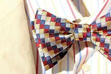 Bow Tie Club Navy, Maroon, Silver, Gold Adjustable Self-Tie Silk Bow Tie - USA