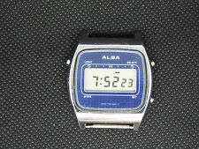SEIKO Vintage Digital Watch  ALBA Y740-5000  LIGHT LCD RETRO OLD SCHOOL