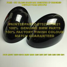 Genuine BMW MIDNIGHT BLACK MINI Specchio Copre Tappi Cooper r55 r56 r57 r58 r59 JCW